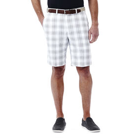 Cool 18® Simple Plaid Short, White