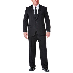 Big & Tall Travel Performance Suit Separates Jacket, Black / Charcoal