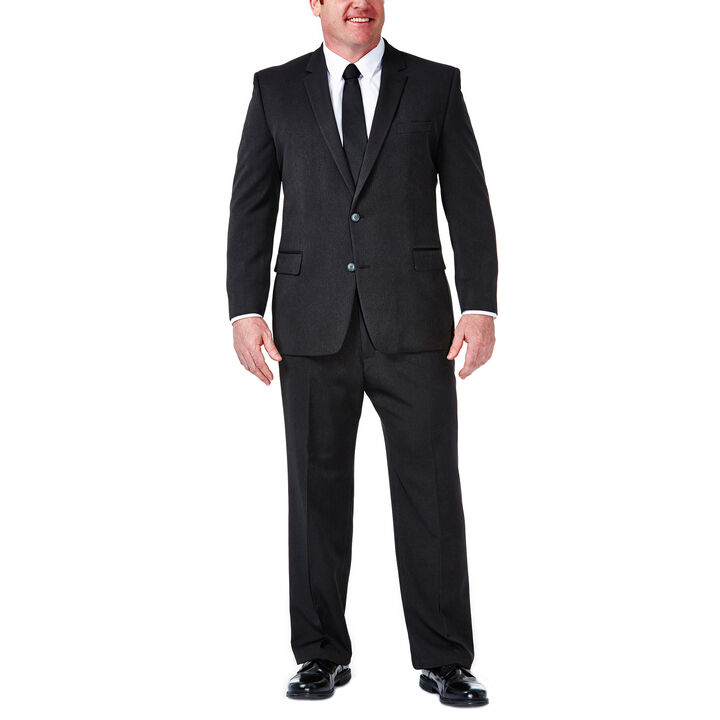 Big & Tall Travel Performance Suit Separates Jacket, Black / Charcoal, hi-res