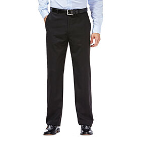 Wool Blend Twill Suit Pant, Black