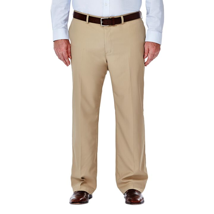 Big & Tall Performance Microfiber Slacks, Tan, hi-res
