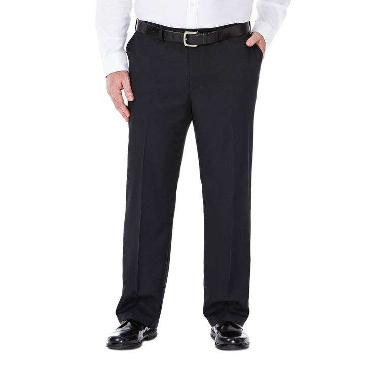 Big & Tall Performance Microfiber Slacks, Black, hi-res