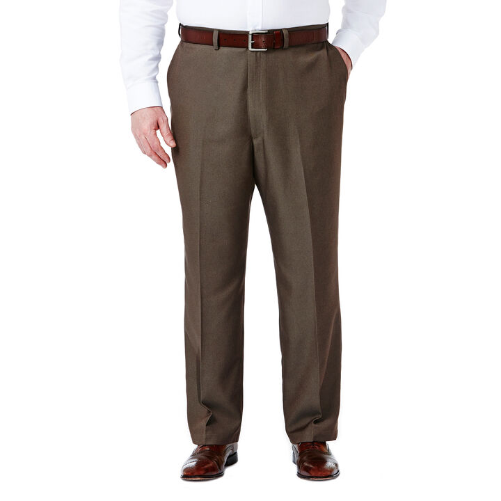 Big & Tall Cool 18® Heather Solid Pant, Heather Brown, hi-res