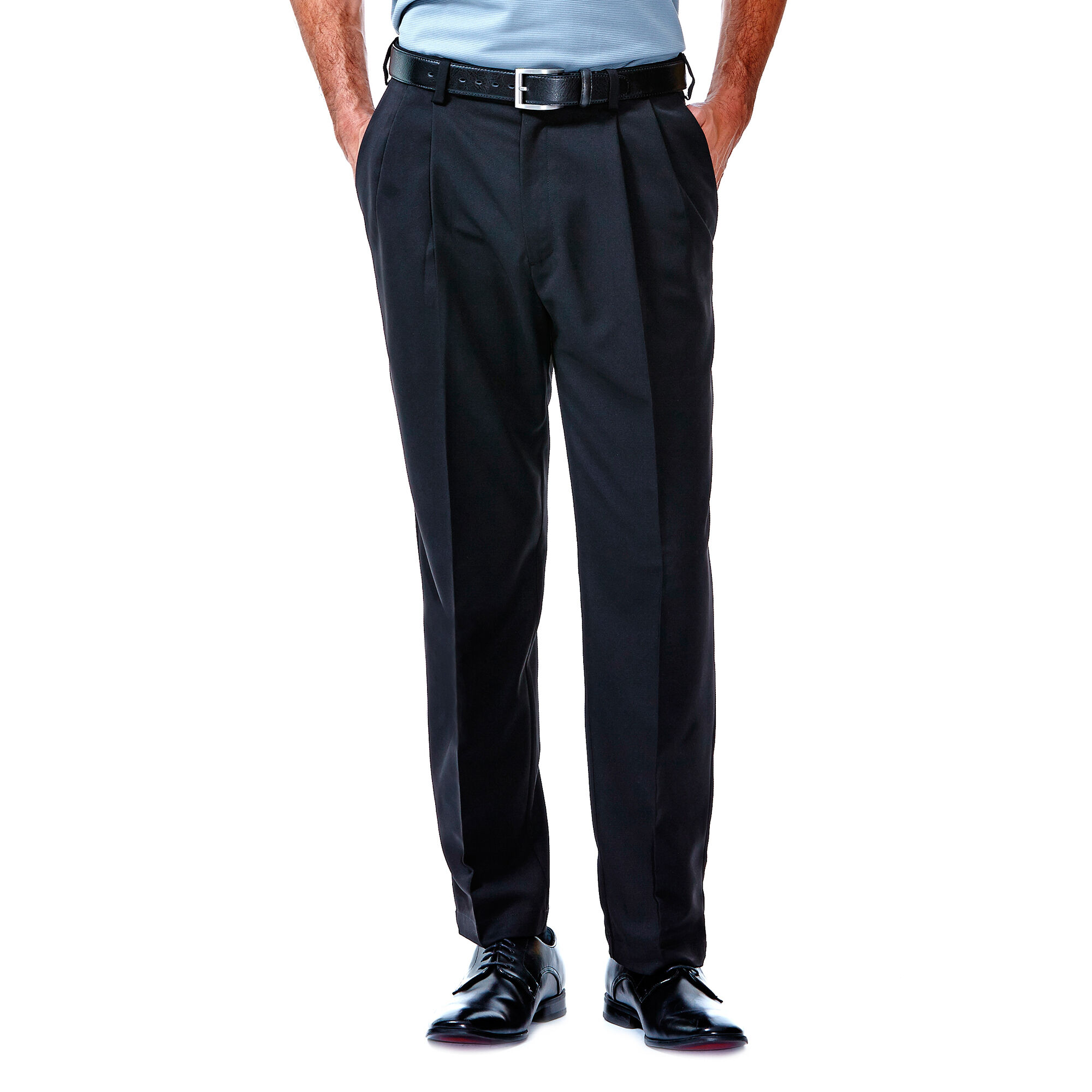 Cool 18 Pant | Classic Fit, Pleat, No Iron | Haggar.com
