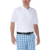 Solid Waffle Polo, White, hi-res 1