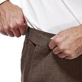 J.M. Haggar Premium Stretch Suit Pant - Flat Front, Chocolate, hi-res 4