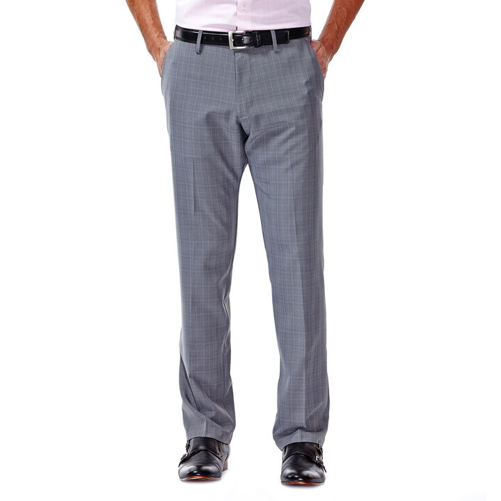Performance Microfiber Slacks, Micro Plaid, , hi-res
