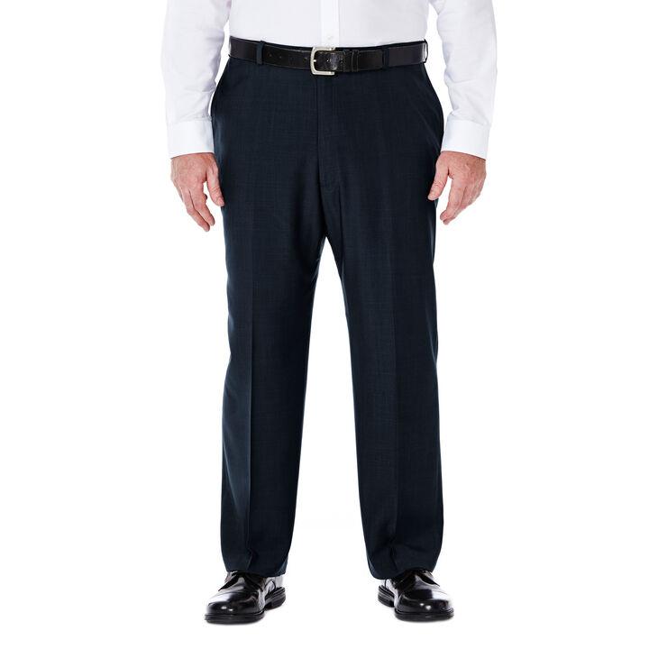 Big & Tall E-CLO™ Stria Dress Pant, Navy, hi-res