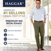 Premium No Iron Khaki, British Khaki, hi-res 5