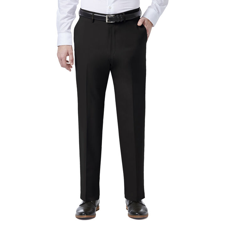 JM Haggar 4 Way Stretch Dress Pant, Black, hi-res