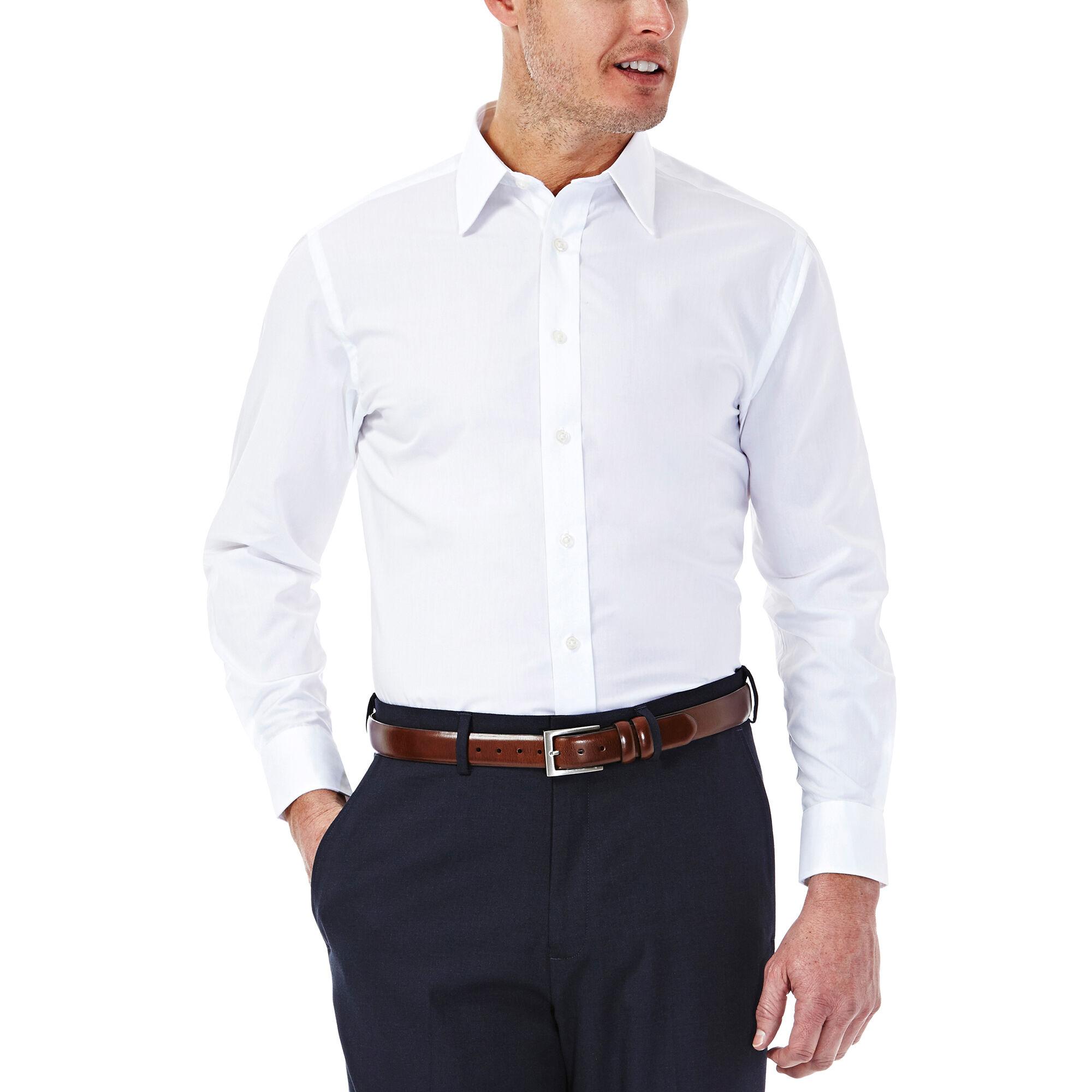 Solid poplin dress shirt for Dress shirt collar fit