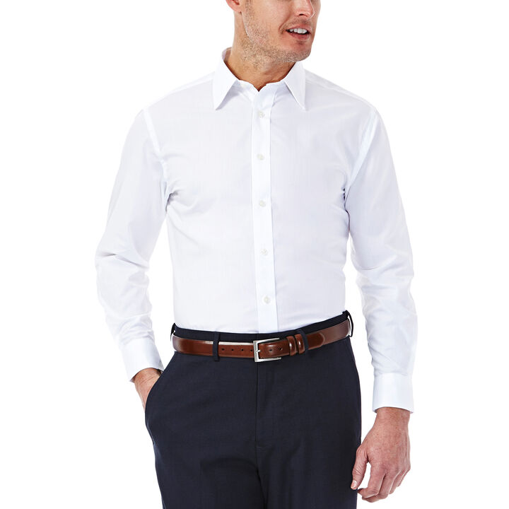 Solid Poplin Dress Shirt, White, hi-res