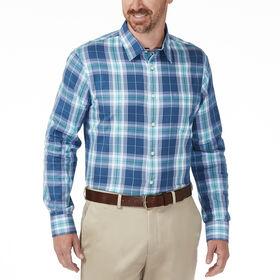 Indigo Plaid Dress Shirt, Turquoise