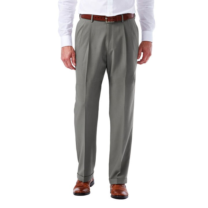 Big & Tall E-CLO™ Glen Plaid Dress Pant, , hi-res