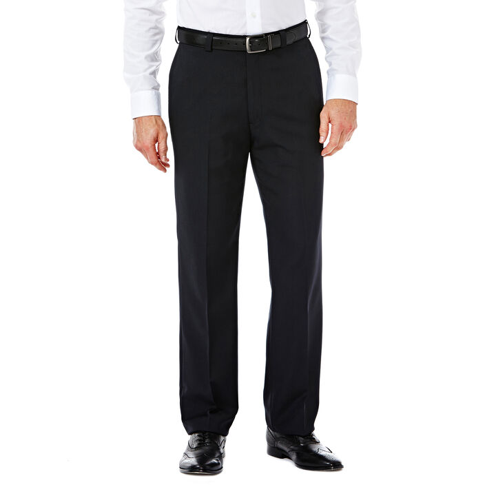E-CLO™ Stria Heather Dress Pant, Black, hi-res