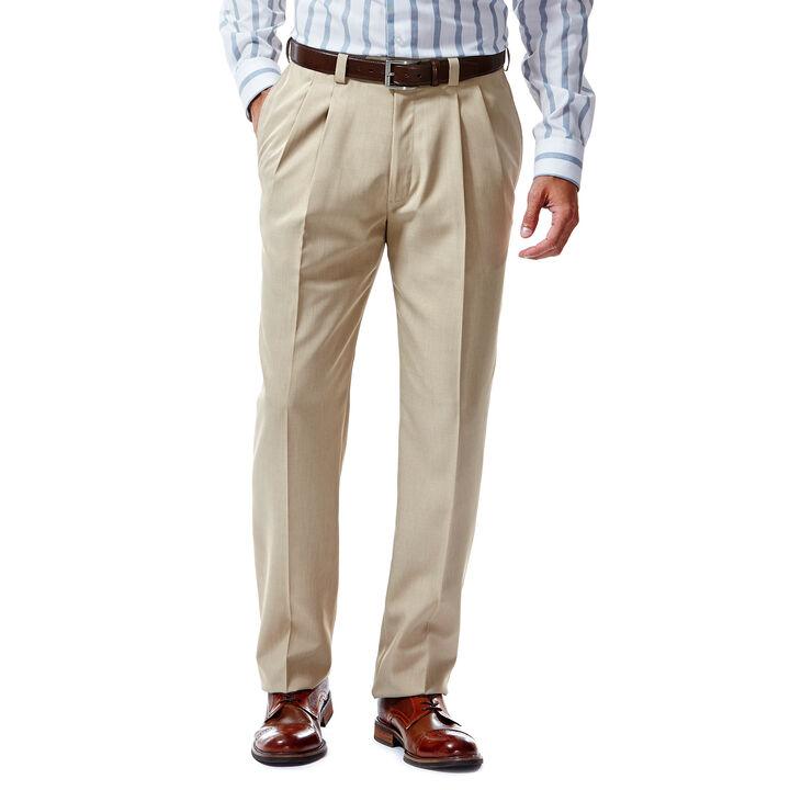 E-CLO™ Stria Dress Pant, Khaki, hi-res