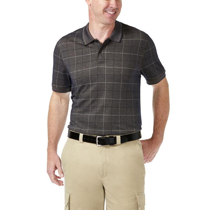 Windowpant Knit Shirt, Brown, hi-res
