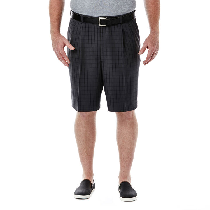 Big & Tall Cool 18®  Windowpane Short, , hi-res