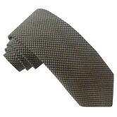 Wool Blend Mini Houndstooth Tie, , hi-res