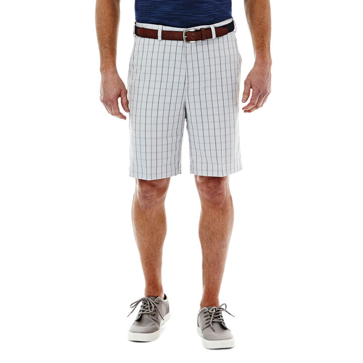 Cool 18®  Windowpane Short, Silver, hi-res