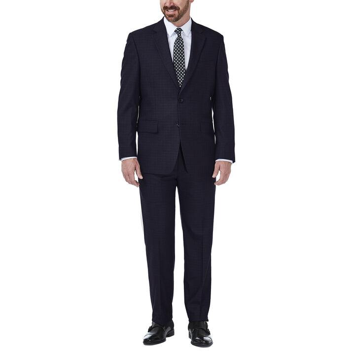 JM Haggar Deco Grid Suit Jacket, Navy, hi-res