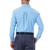 Solid Oxford Dress Shirt, Bright Blue, hi-res 3