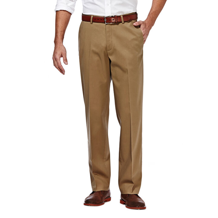 Premium No Iron Khaki, British Khaki, hi-res