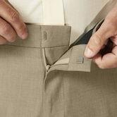 J.M. Haggar Dress Pant - Sharkskin, Oatmeal, hi-res 5