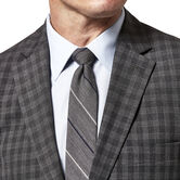 Haggar Check Sport Coat, Heather Grey 3