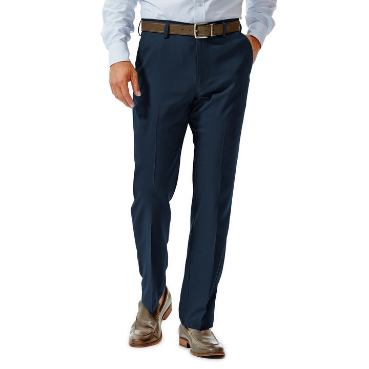 Big & Tall Performance Microfiber Slacks Tic Weave, , hi-res