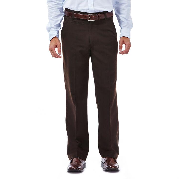 Haggar Heritage 5 Pocket Herringbone Pant,  Chocolate