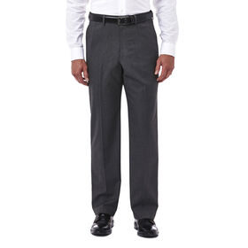Premium Stretch Tic Weave Dress Pant, Medium Grey