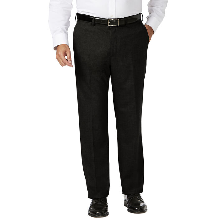 Big & Tall J.M. Haggar Dress Pant - Sharkskin, Black, hi-res