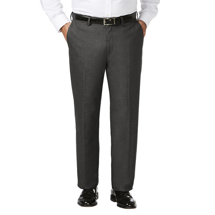 Big & Tall J.M. Haggar Dress Pant - Sharkskin, Dark Heather Grey, hi-res