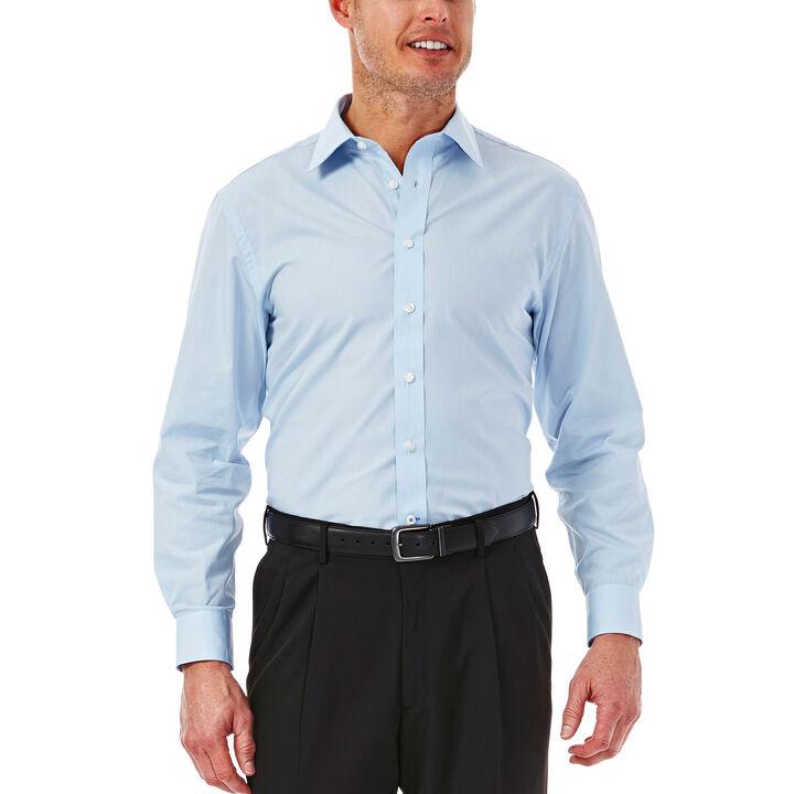 Solid Poplin Dress Shirt, Sky, hi-res