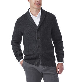 Shawl Collar Cardigan, Heather Grey