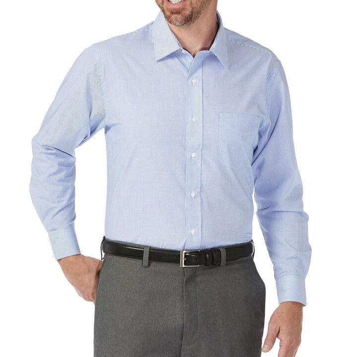 Tattersal Stripe Shirt, Light Blue