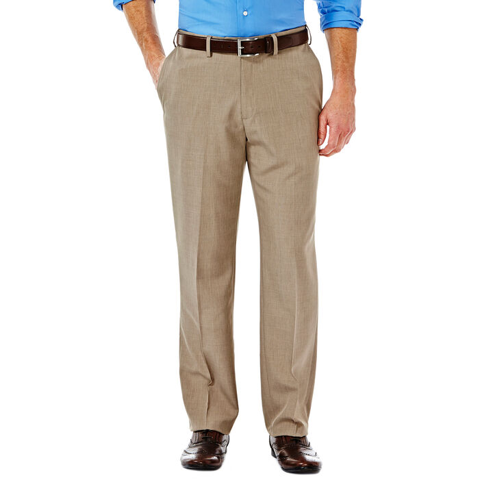 E-CLO™ Stria Heather Dress Pant, Medium Taupe, hi-res