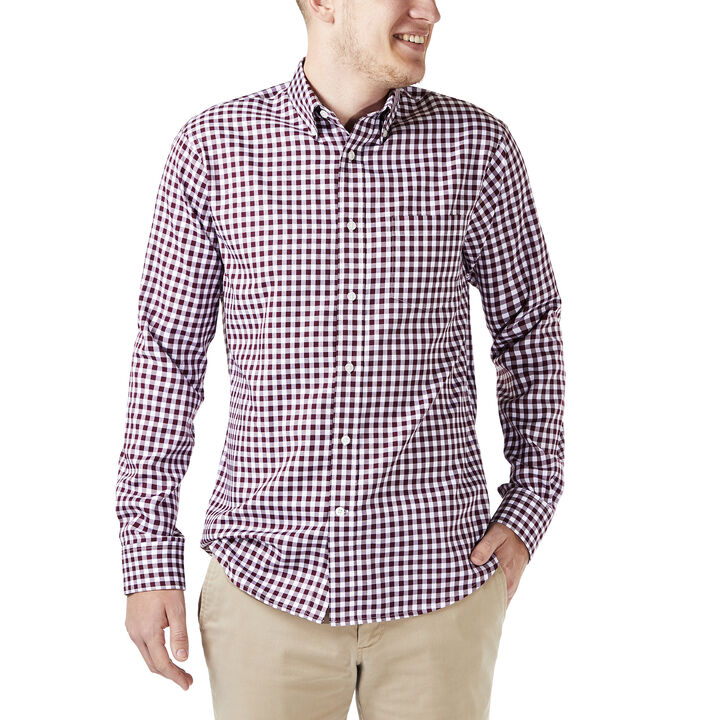 Gingham Button Down Shirt, Winetasting