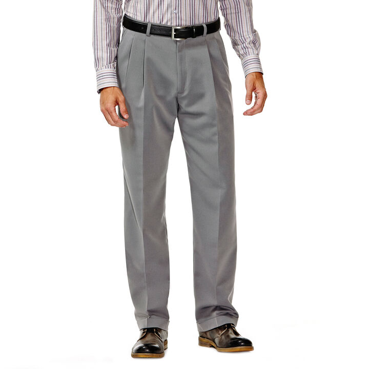 Smart Fiber Herringbone Dress Pant, Grey, hi-res