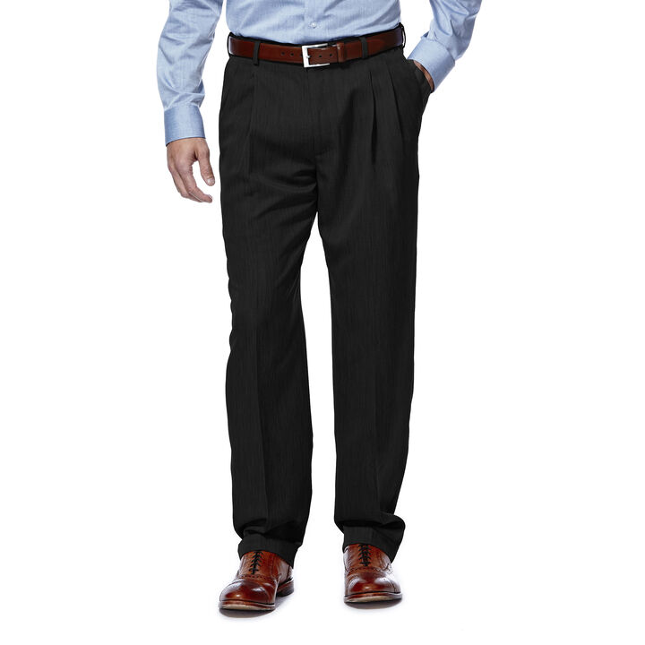 Textured Stria Dress Pant, Black, hi-res