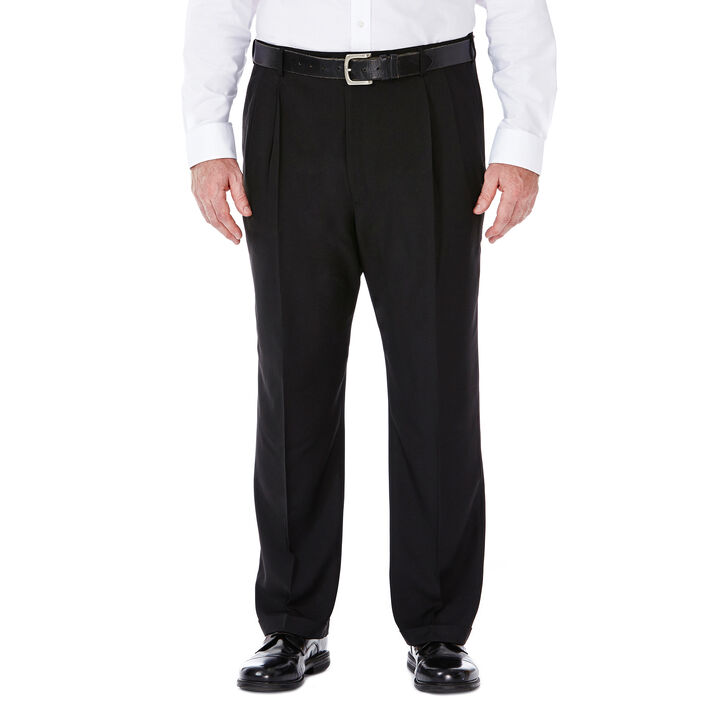 Big & Tall E-CLO™ Stria Dress Pant, Black, hi-res