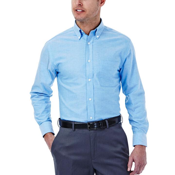 Solid Oxford Dress Shirt, Bright Blue, hi-res