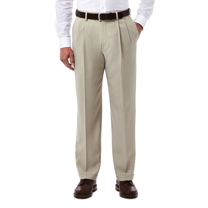 E-CLO™ Stria Dress Pant, Sand, hi-res
