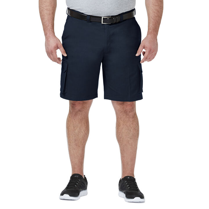 Big & Tall Stretch Cargo Short, Navy, hi-res