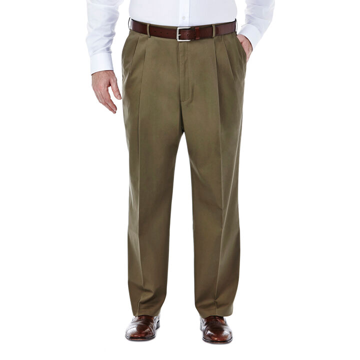 Big & Tall Premium No Iron Khaki, Toast, hi-res