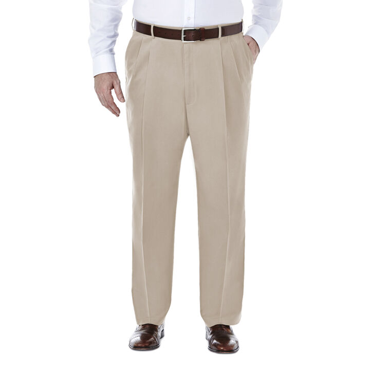 Big & Tall Premium No Iron Khaki, Sand, hi-res