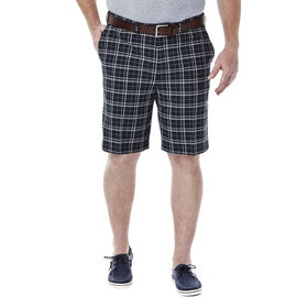 Big & Tall Cool 18®  Woven Plaid Short, Navy