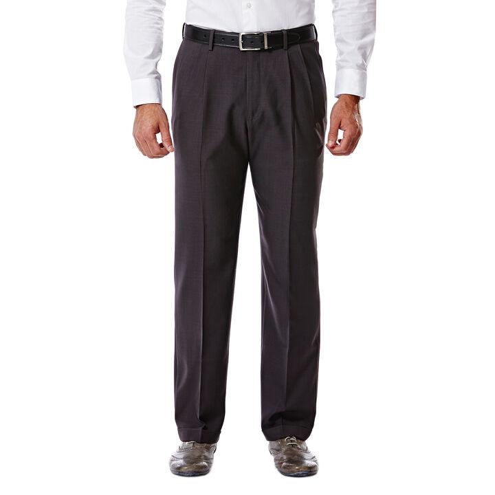 E-CLO™ Stria Dress Pant, Black / Charcoal, hi-res