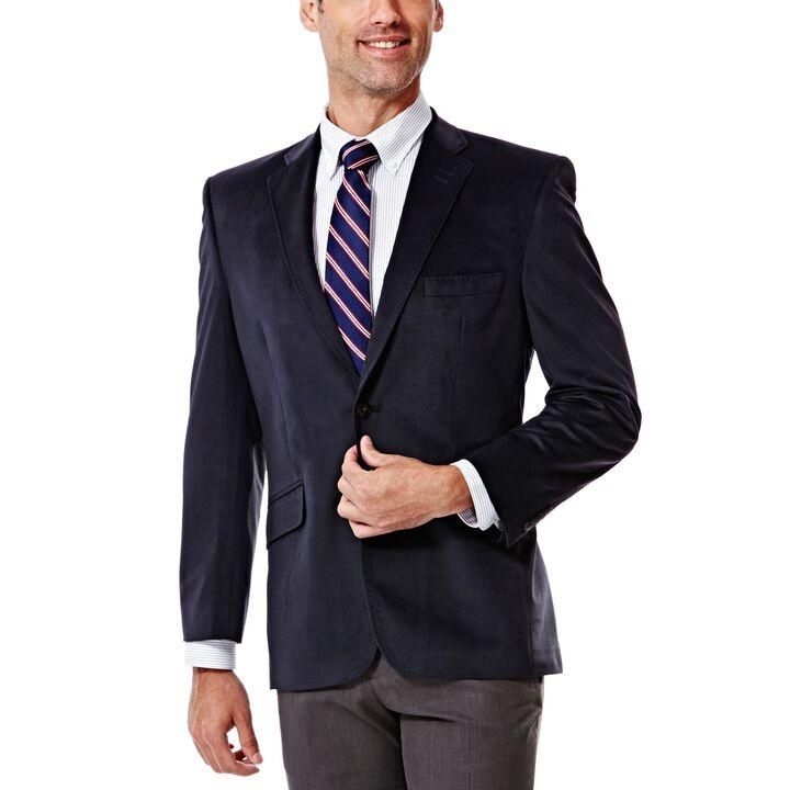 Velvet Sport Coat, Navy, hi-res